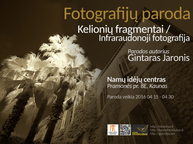Gintaro Jaronio fotografijų paroda Namų Idėjų Centre. Kaunas, 2016m.